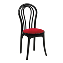 Swagath Beauty Deluxe Plastic Cushioned Chair Without Arms