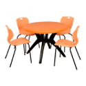 Swagath Plastic Dining Table With Chair Fantasy With Bloom