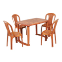 Swagath Plastic Dining Table With Chair SW-803