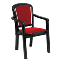 Swagath Plastic Cushioned Chair With Arms Plush