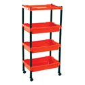 Swagath Plastic Four Shelves Trolley TRL-04