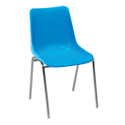 Swagath Plastic Chair With Metal Legs Eden Chair Matte