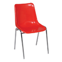 Swagath Plastic Chair With Metal Legs Eden Chair Gloss