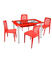 TS09 -Glass  with Enjoy Chairs TS09 Glass -Dining Table with Enjoy Chairs