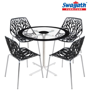 TS-04-Glass with Sparkle Chairs